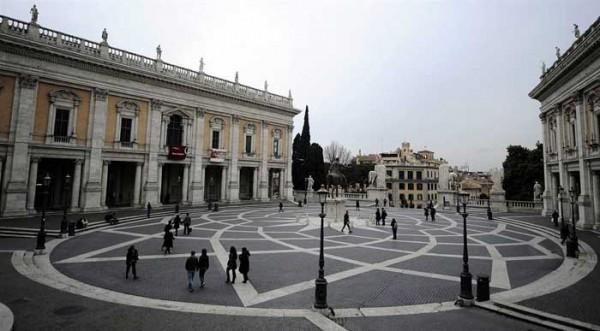 Attractions in Rome Piazza-del-Campidoglio