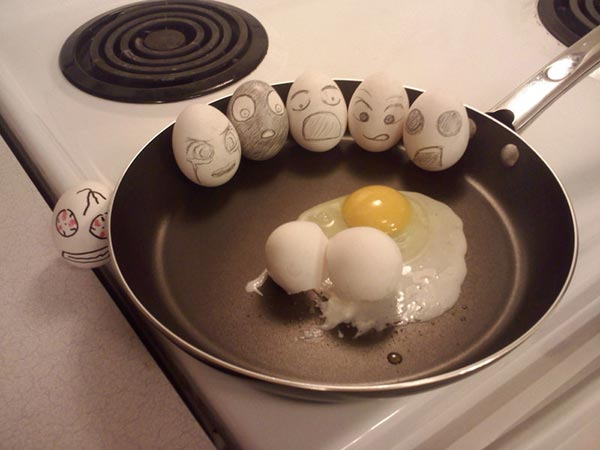 Funny and Cool Eggs Art