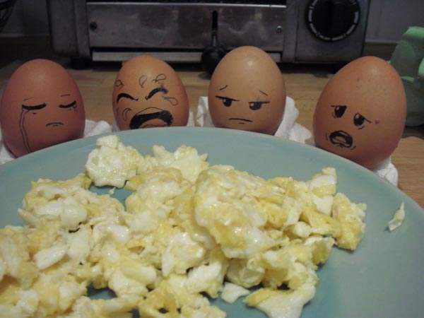 Funny Egg Art humor with eggs