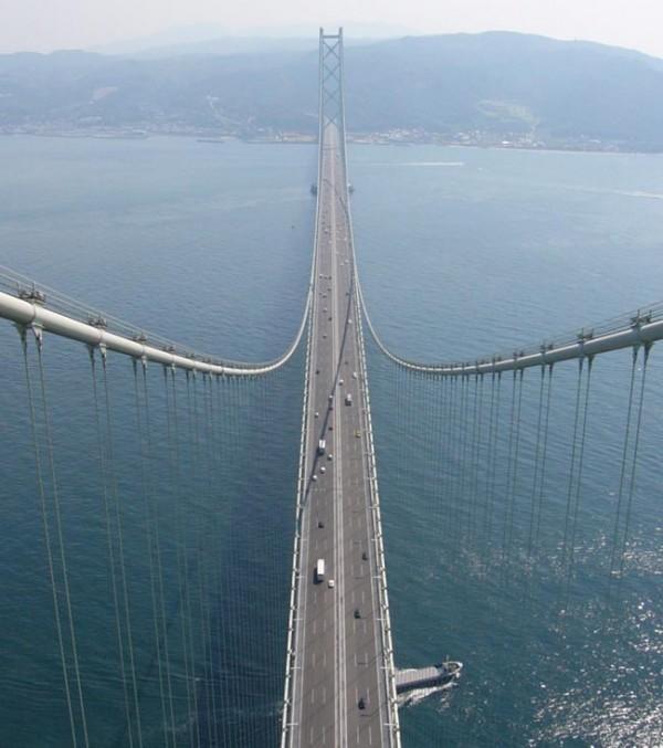 single span bridges Akashi-Kaikyo-Bridge