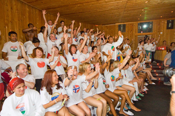 most nationalities in a sauna