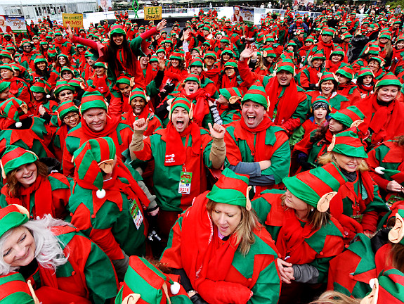 the largest gathering of Santa's Elves in one place