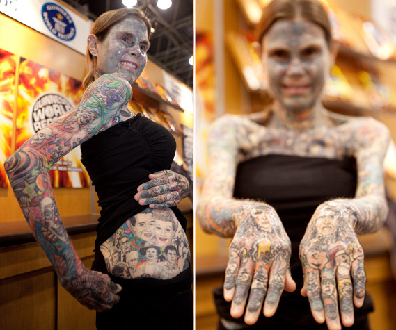 the most tattooed woman in the world