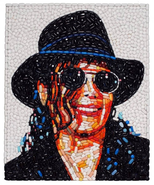 Bizarre Celebrity Portraits Made out of Trash | The Wondrous Design Magazine