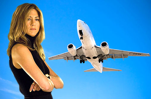 Jennifer Aniston would prefer not to fly.She has been terrified of flying ever since she was caught in a bad storm in a small plane years ago.