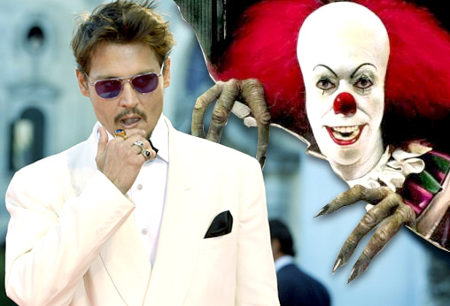 Johnny Depp has an acute fear of clowns, a condition known as coulrophobia, ''ever since I had nightmares of them as a kid. I used to see their faces leering at me.''