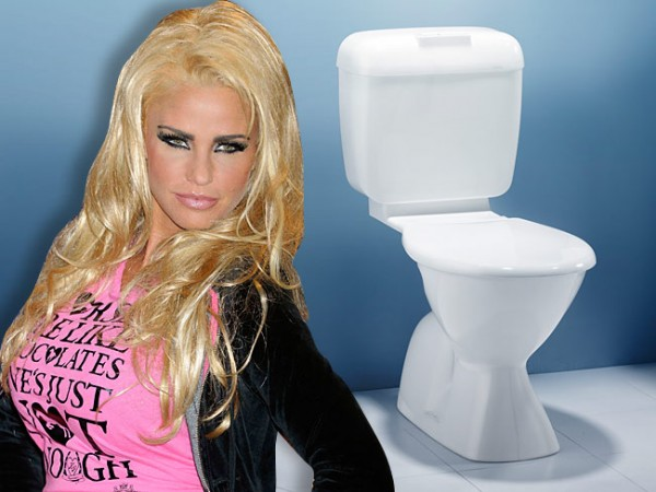 Katie Price could coat her bathroom in gold but it doesn't help her deal with her toilet phobia.