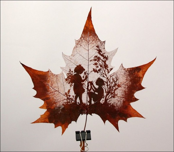 Leaf Carving Artwork childern 11