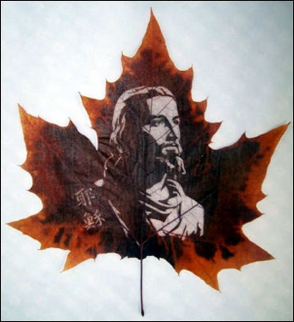 Leaf Carving Artwork wonrous Art 10