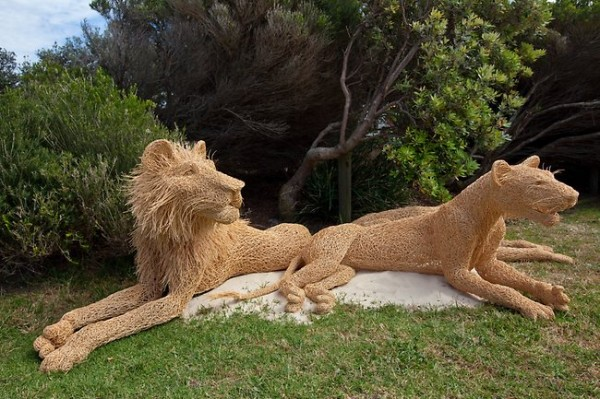 http://thewondrous.com/wp-content/uploads/2011/11/Sceplture-of-Lions-in-Sydney-Sea-Exibition-600x399.jpg