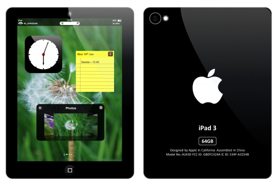 4 .The 64 GB iPad 3 Concept Design