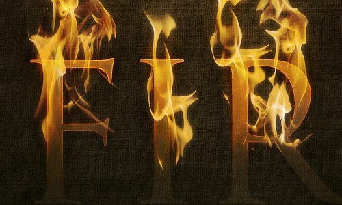 Fire Burning Text Effect