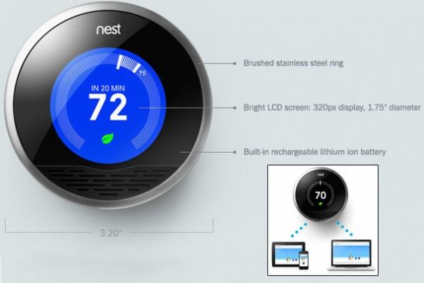 افضل المنتجات التقنية المتوقعة في سنة 2012 مع الصور Nest-Thermostat-600x