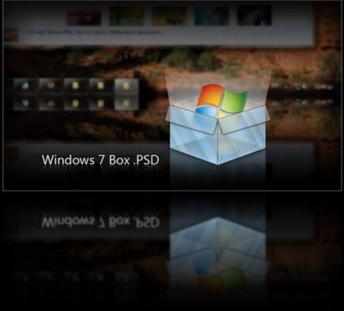 Windows 7 Box .PSD Icon by giannisgx89