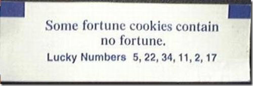 Funny lucky numbers about future