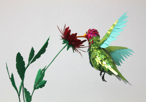 Beautiful Paper Birds by Diana Beltran Herrera