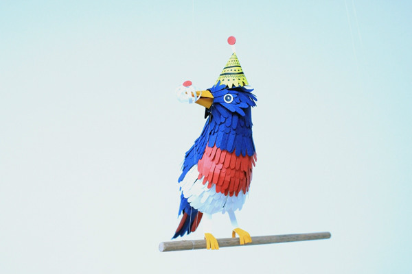 Attractive Paper Birds by Diana Beltran Herrera