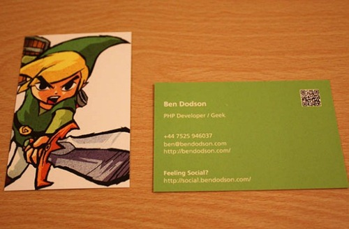 Ben Business Cards is a cool and funny card