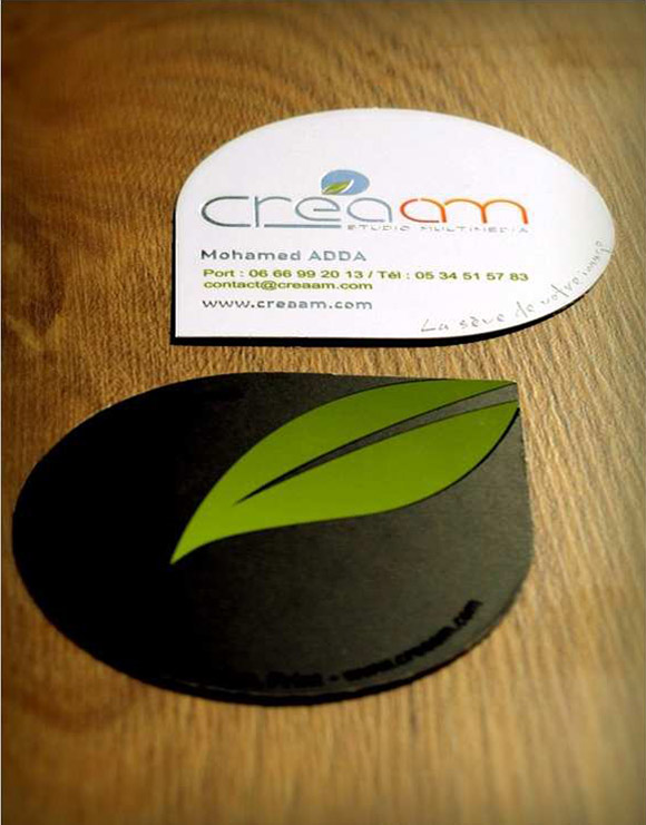 Creaam is a beautiful green theemed buisness card for inspiration