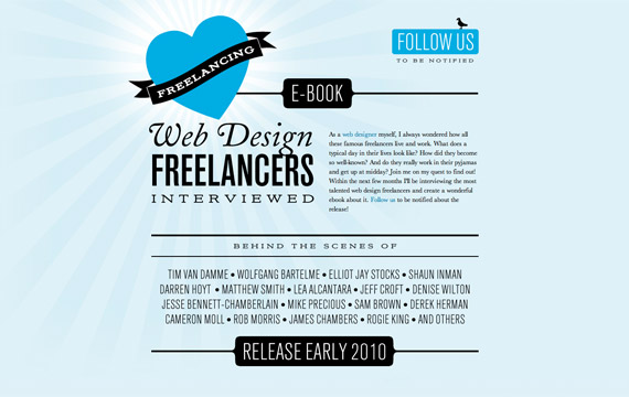 Love freelancing is a nice blue website for inspiratin