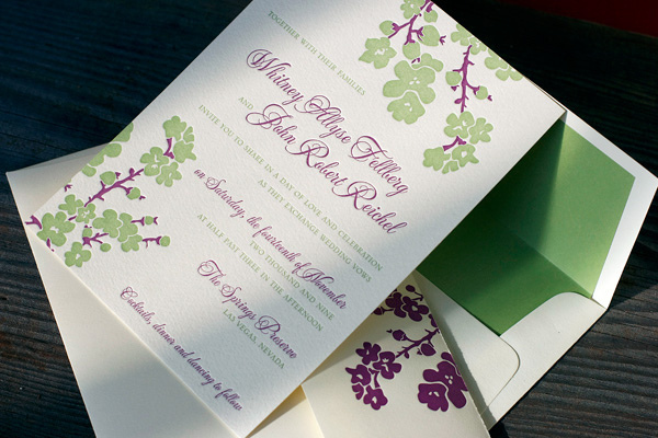 MIMOSA LETTERPRESS WEDDING INVITATIONS