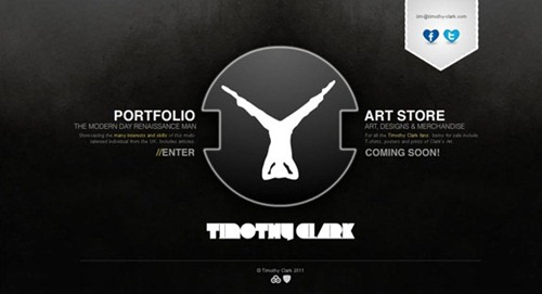 Timothy Clark is a imple desing of dark portfolio