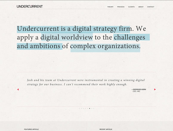 Undercurrent is also using a fixed header menu