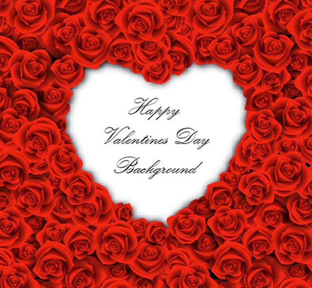 Valentine's Day Background So Cool Heart only for you