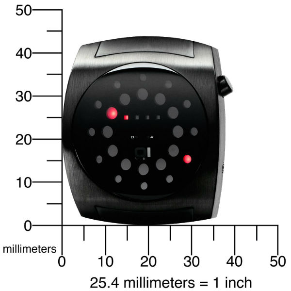 Lightmare Red LED Black Rubber Watch