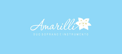 Amarilli is a blue color flower design