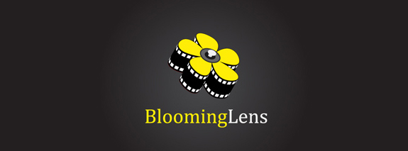 Blooming Lens is a yellow color beautiful flower logo desing