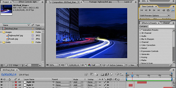 Car Light Trails is shows how to create car light trails in after effect
