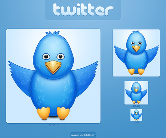 Cute Twitter Bird Icon Set for better performance of twitter ids