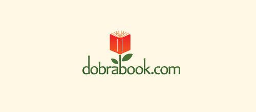 DobraBook is a delightful flower logo design