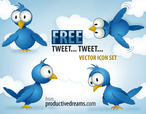 Free Twitter Vector Icon Set for inspiration