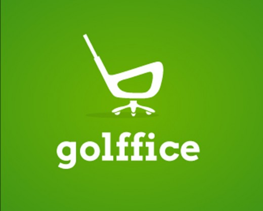Golffice is a green color golf logo design