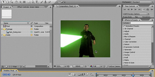 Light Sabers is a tutorial to learn how to create star wasrs style hedi