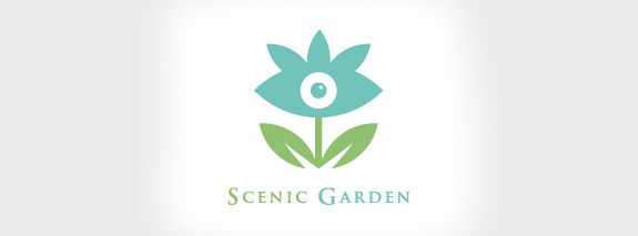 Scenic Garden is a perple color flower logo design