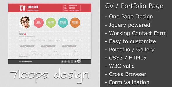 Symplicity CV and Portfolio Page for making new buisness related cvs