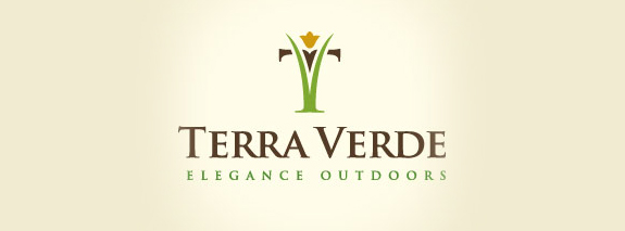Terra Verde is a simple and nice flower logo
