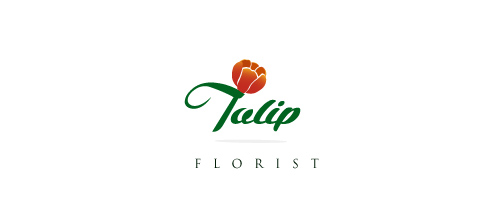 Tulip is a tinny flower logo design