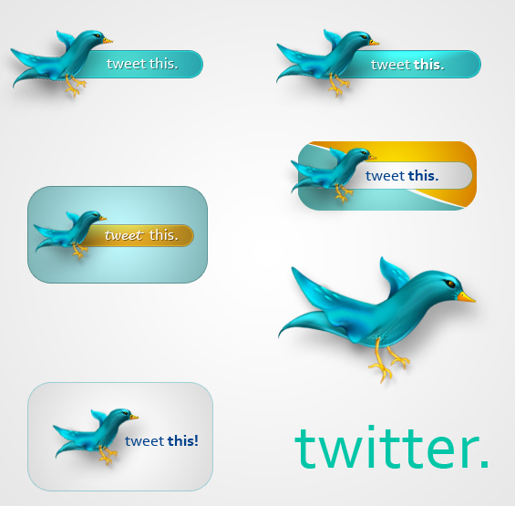 Twitter Icons PSD are attractive and stylish icons for inspiration