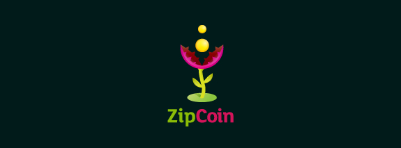 ZipCoin is a cool design of logo for inspiration of web designers