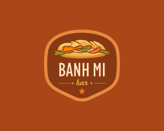 BANH MI BAR is a beautiful logo design