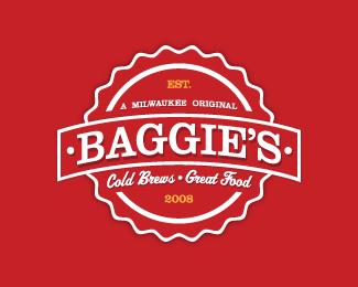 Baggie's Brew Pub Logo V3 is a red color logo design