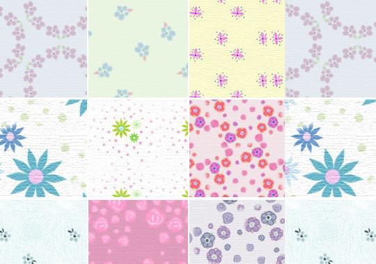 Dusty Florals – pattern set