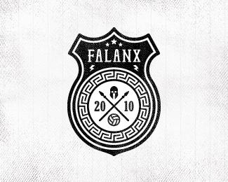 Falanx is a simple logo design