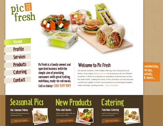 Pic Fresh is a simple and effective design