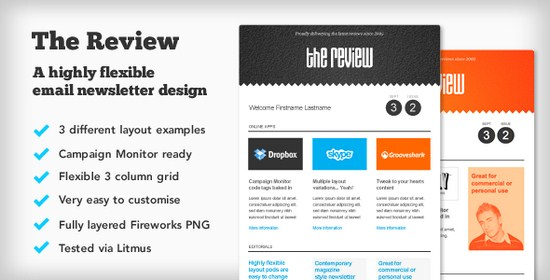 Teh Review E-newsletter Design