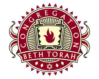 Temple Beth Torah is a graceful logo design